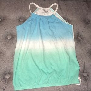Old Navy Blue and Green hombre tank